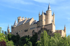 The famous Alcazar of Segovia, Castilla y Leon Stock Photo