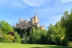 The famous Alcazar of Segovia, Castilla y Leon Royalty Free Stock Photo