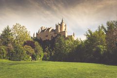 The famous Alcazar of Segovia, Castilla y Leon, Spain Stock Images