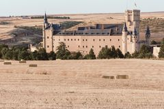 The famous Alcazar of Segovia, medieval fortress and one of the most famous castles in Europe Spain royalty free stock photos