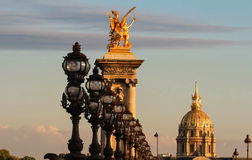 The famous Alexandre III bridge , Paris, France. Stock Photo
