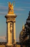 The famous Alexandre III bridge , Paris, France. Stock Photos