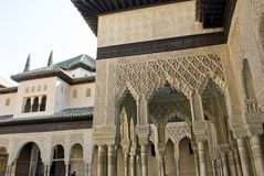 Famous alhambra building Royalty Free Stock Images