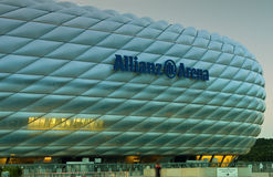 Allianz Arena at night Royalty Free Stock Photos