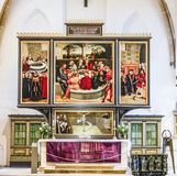 Famous altar from Lucas Cranach in the civic church in Wittenber Stock Image