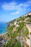 Famous Amalfi Coast. Campania, Italy. Scenic picture-postcard view of the beautiful Amalfi at famous Amalfi Coast Campania, Italy Stock Images