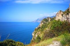Famous Amalfi Coast. Campania, Italy. Scenic picture-postcard view of the beautiful Amalfi at famous Amalfi Coast Campania, Italy Stock Photography