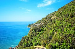 Famous Amalfi Coast. Campania, Italy. Scenic picture-postcard view of the beautiful Amalfi at famous Amalfi Coast Campania, Italy Royalty Free Stock Images