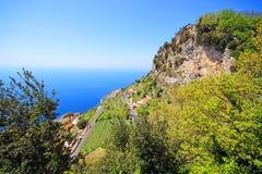 Famous Amalfi Coast. Campania, Italy. Scenic picture-postcard view of the beautiful Amalfi at famous Amalfi Coast Campania, Italy Stock Photo
