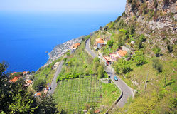 Famous Amalfi Coast. Campania, Italy Royalty Free Stock Photography