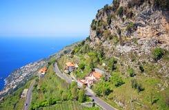 Famous Amalfi Coast. Campania, Italy. Scenic picture-postcard view of the beautiful Amalfi at famous Amalfi Coast Campania, Italy Royalty Free Stock Photos