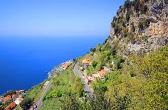Famous Amalfi Coast. Campania, Italy. Scenic picture-postcard view of the beautiful Amalfi at famous Amalfi Coast Campania, Italy Royalty Free Stock Image