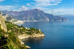 Amalfi coast in region of Campania, Italy stock photo