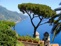 Famous Amalfi Coast view from Ravello Royalty Free Stock Photography