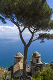 Famous Amalfi Coast. View from  Ravello Rufolo Villa, Italy Royalty Free Stock Images