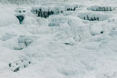 Famous and amazing thermal springs Pamukkale or Cotton Castle on Denizli Province in Turkey stock photo