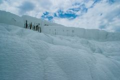 Famous and amazing thermal springs Pamukkale or Cotton Castle on Denizli Province in Turkey stock photography