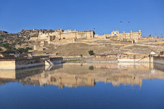 Famous Amber Fort in Jaipur Stock Photography