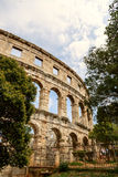 Famous amphitheater in Pula, Croatia Royalty Free Stock Photography