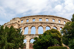 Famous amphitheater in Pula, Croatia Stock Photos