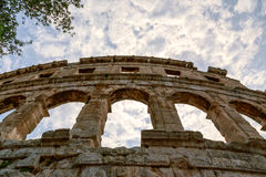 Famous amphitheater in Pula, Croatia Stock Images