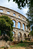 Famous amphitheater in Pula, Croatia Stock Photography