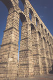 The famous ancient aqueduct in Segovia, Castilla y Leon, Spain Stock Photos