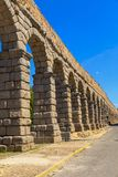 The famous ancient aqueduct in Segovia Stock Photography