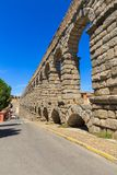 The famous ancient aqueduct in Segovia Royalty Free Stock Photography