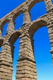 The famous ancient aqueduct in Segovia Royalty Free Stock Photos