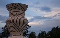 Famous big ancient Earthenware, Ban Chiang of Nong Prajak Park,. Famous ancient Earthenware,Udon Thani Royalty Free Stock Photos