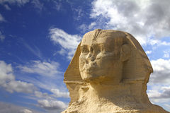 Famous ancient egypt sphinx head Stock Image