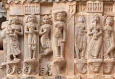 Famous ancient Jagdish Temple in Udaipur, Rajasthan, India. Ancient bas-relief with Apsaras at famous ancient Jagdish Temple in Udaipur, Rajasthan, India. It has stock photography