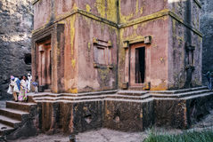 Famous ancient orthodox rock hewn churches of lalibela ethiopia Royalty Free Stock Image