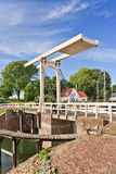 The famous ancient Queen Beatrix bridge in Veere, Netherlands. The famous ancient Queen Beatrix bridge in Veere, The Netherlands Royalty Free Stock Photos