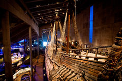 Famous ancient reconstructed vasa vessel in Stockholm, Sweden Royalty Free Stock Photography