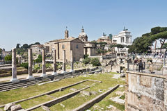 Famous ancient Roman Forum, Rome, Italy Stock Photos