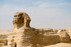 Famous ancient statue of Sphinx Royalty Free Stock Photos