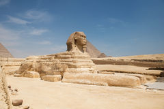 Famous ancient statue of Sphinx Stock Images