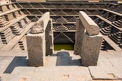 Stepped tank at Hampi Stock Photos