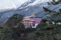 Famous Tengboche Buddhist monastery in Sagarmatha, Nepal. Famous ancient Tibetan Tengboche Buddhist monastery of the Sherpa community in Sagarmatha National Park Royalty Free Stock Photos