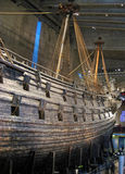 Famous ancient vasa vessel in Stockholm. Famous ancient vasa vessel in Vasa museum in Stockholm. Ship sank almost directly after leaving the dock Royalty Free Stock Photos