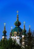 Famous Andriivska church Stock Photos