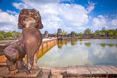 Famous Angkor Wat temple complex, near Siem Reap, Cambodia. Royalty Free Stock Photography