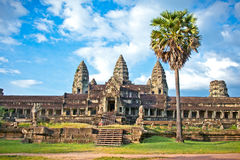 Famous Angkor Wat temple complex, near Siem Reap, Cambodia. Royalty Free Stock Photos