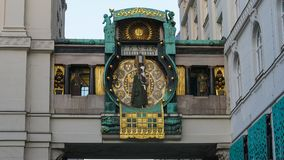 Famous Ankeruhr Clock in Hoher Markt. Vienna Austria. Royalty Free Stock Images
