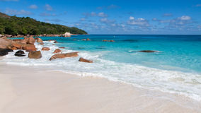 Famous Anse Lazio Beach on Praslin Seychelles Royalty Free Stock Image