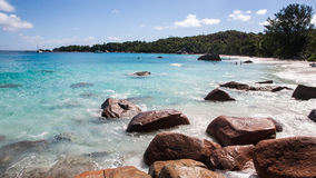Famous Anse Lazio Beach on Praslin Seychelles Royalty Free Stock Photography