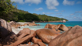 Famous Anse Lazio Beach on Praslin Seychelles Royalty Free Stock Photo