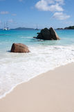 Famous Anse Lazio Beach on Praslin Seychelles Stock Images